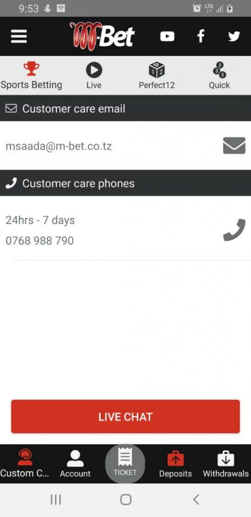 M-bet customer support addresses